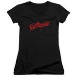 Juniors: Ted Nugent- Distress Logo V-Neck T-Shirt