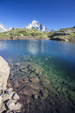Lac Des Cheserys, Aiguille Verte, Haute Savoie, French Alps, France Photographic Print by Roberto Moiola