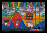Resurrection Of Arhitecture Affiches par Friedensreich Hundertwasser