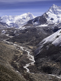 The Chola Valley in Sagarmatha National Park, UNESCO World Heritage Site, Himalayas, Nepal, Asia Photographic Print by John Woodworth
