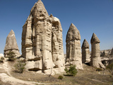 Natural Pinnacles in Volcanic Ash, Zemi Valley, Goreme, Cappadocia, Anatolia, Turkey Minor, Eurasia Photographic Print by Tony Waltham