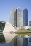 Guangzhou Opera House and Skyscrapers in Zhujiang New Town, Tian He, Guangzhou, Guangdong, China Photographic Print by Ian Trower