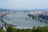 Panoramic View of Danube River and the Buda and Pest Sides of the City from the Citadel Photographic Print by Kimberly Walker