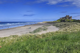 Bamburgh Castle across the Dunes, Early Summer Afternoon, Northumberland, England, United Kingdom Photographic Print by Eleanor Scriven