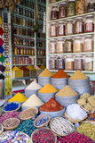 Herbs and Spices for Sale in Souk, Medina, Marrakesh, Morocco, North Africa, Africa Fotografisk tryk af Stephen Studd