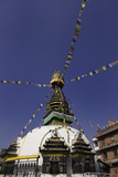 Shree Gha Buddhist Stupa, Thamel, Kathmandu, Nepal, Asia Photographic Print by John Woodworth