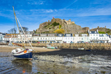 The Town of Mont Orgueil and its Castle, Jersey, Channel Islands, United Kingdom Photographic Print by Michael Runkel