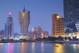 Grand Lisboa and Wynn Hotel and Casino at Dusk, Macau, China, Asia Photographic Print by Ian Trower