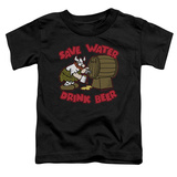 Toddler: Hagar The Horrible- Save Water Drink Beer T-shirts