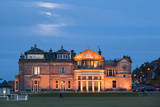 Moonrise over the Royal and Ancient Golf Club, St. Andrews, Fife, Scotland, United Kingdom, Europe Photographic Print by Mark Sunderland