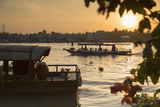 Boats on Can Tho River at Dawn, Can Tho, Mekong Delta, Vietnam, Indochina, Southeast Asia, Asia Photographic Print by Ian Trower