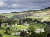 View of the Village of Langthwaite in Arkengarthdale, Yorkshire, England, United Kingdom Photographic Print by John Woodworth