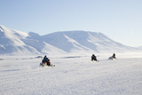 Snow Mobiles, Adventdalen Valley, Longyearbyen Photographic Print by Stephen Studd