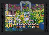 Löwengasse Plakat af Friedensreich Hundertwasser