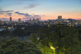 Coastal Area Skyline at Sunset, Fukuoka, Kyushu, Japan Photographic Print by Ian Trower