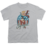 Youth: JLA- Supergirl Bombshell T-shirts