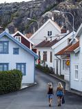 Street Scene in Fjallbacka, Bohuslan Region, West Coast, Sweden, Scandinavia, Europe Photographic Print by Yadid Levy