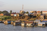 Life Along the Mekong River Approaching the Capital City of Phnom Penh, Cambodia, Indochina Photographic Print by Michael Nolan