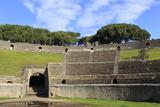 Auditorium and Entrance Gate, Amphitheatre, Roman Ruins of Pompeii, Campania, Italy Photographic Print by Eleanor Scriven