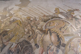 Roman Mosaic, Battle Between Alexander and Darius, from Pompeii House of the Faun Photographic Print by Eleanor Scriven