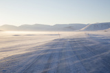 Sunrise, Adventdalen Valley Ice Road, Longyearbyen Photographic Print by Stephen Studd