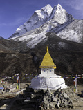 Buddhist Stupa Outside the Town of Dingboche in the Himalayas, Nepal, Asia Photographic Print by John Woodworth