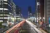 Downtown Street at Dusk, Hiroshima, Hiroshima Prefecture, Japan Photographic Print by Ian Trower