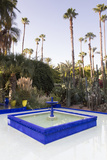 Fountain, Jardin Majorelle, Owned by Yves St. Laurent, Marrakech, Morocco, North Africa, Africa Photographic Print by Stephen Studd