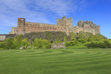 Bamburgh Castle under a Blue Summer Sky, Bamburgh, Northumberland, England, United Kingdom Photographic Print by Eleanor Scriven