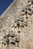 Chac Rain God Stone Masks, Pyramid of the Magician, Uxmal Photographic Print by Richard Maschmeyer