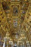 Le Grand Foyer with Frescoes and Ornate Ceiling by Paul Baudry, Opera Garnier, Paris, France Photographic Print by G & M Therin-Weise