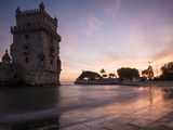 Belem Tower at Dusk (Torre De Belem), Lisbon, Portugal Photographic Print by Ben Pipe