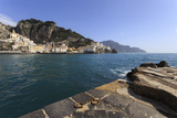 Amalfi Harbour Quayside and View Towards Amalfi Town Photographic Print by Eleanor Scriven