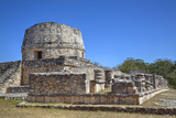 Templo Redondo (Round Temple), Mayapan, Mayan Archaeological Site, Yucatan, Mexico, North America Photographic Print by Richard Maschmeyer