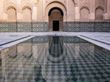 Reflections in the Courtyard Pool Photographic Print by Stephen Studd
