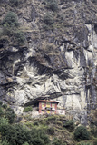 An Old Religious Building Built into the Side of a Cliff in the Sagarmatha National Park Photographic Print by John Woodworth