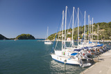 View across Lakka Bay, Yachts Lined Up Along the Quay, Lakka Photographic Print by Ruth Tomlinson