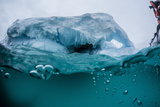 Above and Below Water View of Iceberg at Booth Island, Antarctica, Polar Regions Photographic Print by Michael Nolan