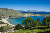 Pallas Beach in Lindos, Rhodes, Dodecanese Islands, Greek Islands, Greece, Europe Photographic Print by Michael Runkel