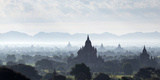 North and South Guni Temples Pagodas and Stupas in Early Morning Mist at Sunrise Photographic Print by Stephen Studd