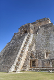 Pyramid of the Magician, Uxmal, Mayan Archaeological Site, Yucatan, Mexico, North America Photographic Print by Richard Maschmeyer