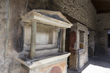 Lararium, House of the Amorini Dorati (Golden Cupids), Roman Ruins of Pompeii, Campania, Italy Photographic Print by Eleanor Scriven