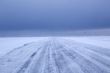 Ice Road in Bad Weather, Longyearbyen, Spitsbergen, Svalbard, Arctic Circle, Norway, Scandinavia Photographic Print by Stephen Studd