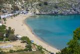Pallas Beach in Lindos, Rhodes, Dodecanese Islands, Greek Islands, Greece, Europe Photographic Print by Michael Runkel