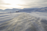 Ice Road, Adventdalen Valley at Sunrise, Longyearbyen Photographic Print by Stephen Studd