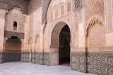Doorway, Medersa Ali Ben Youssef (Madrasa Bin Yousuf), Medina, Marrakesh, Morocco Photographic Print by Stephen Studd