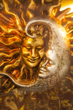 Moon and Sun Carnival Mask Decorations, Venice, Veneto, Italy, Europe Photographic Print by Guy Thouvenin