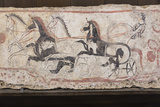 Charioteer and Horses, Painted Tomb Slab Detail, National Archaeological Museum Photographic Print by Eleanor Scriven