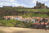 St. Mary's Church and Whitby Abbey Above Tate Hill Beach Photographic Print by Eleanor Scriven