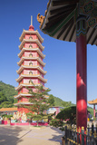 Pagoda at Ten Thousand Buddhas Monastery, Shatin, New Territories, Hong Kong, China, Asia Photographic Print by Ian Trower